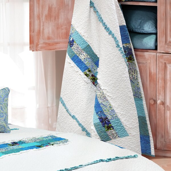 Angeline Stripe 100% Cotton Throw by August Grove